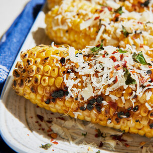 Grilled Italian Corn with Herbs and Parmesan