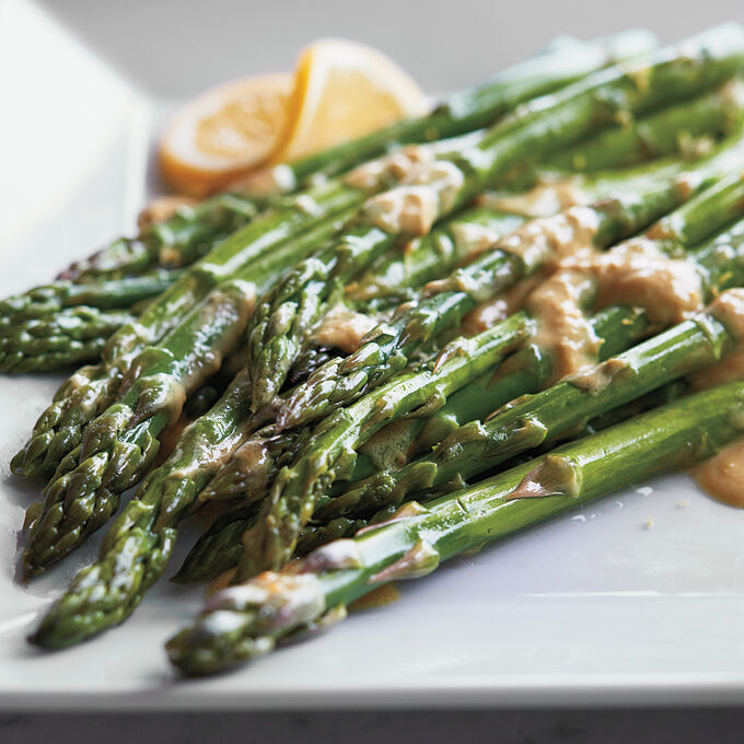 Steamed Asparagus with Citrus Vinaigrette