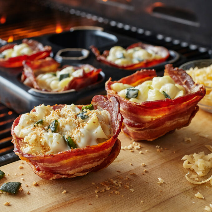 Mac 'n Cheese Bacon Bowls with Pasilla Chile