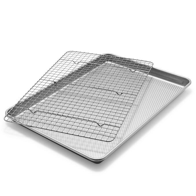 Sur La Table Platinum Pro Half Sheet Pan & Nonstick Cooling Rack Set