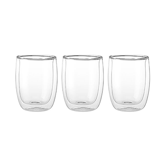 Zwilling J.A. Henckels Sorrento Double-Wall Appetizer Dessert Glasses, Set of 3