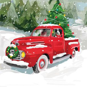 Noah's Truck Christmas Paper Cocktail Napkins, Set of 20