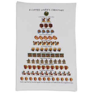 The Coffee Lover's 12 Days of Christmas Flour-Sack Towel