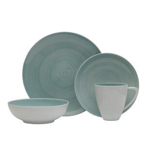 Savona Teal 16-Piece Dinnerware Set