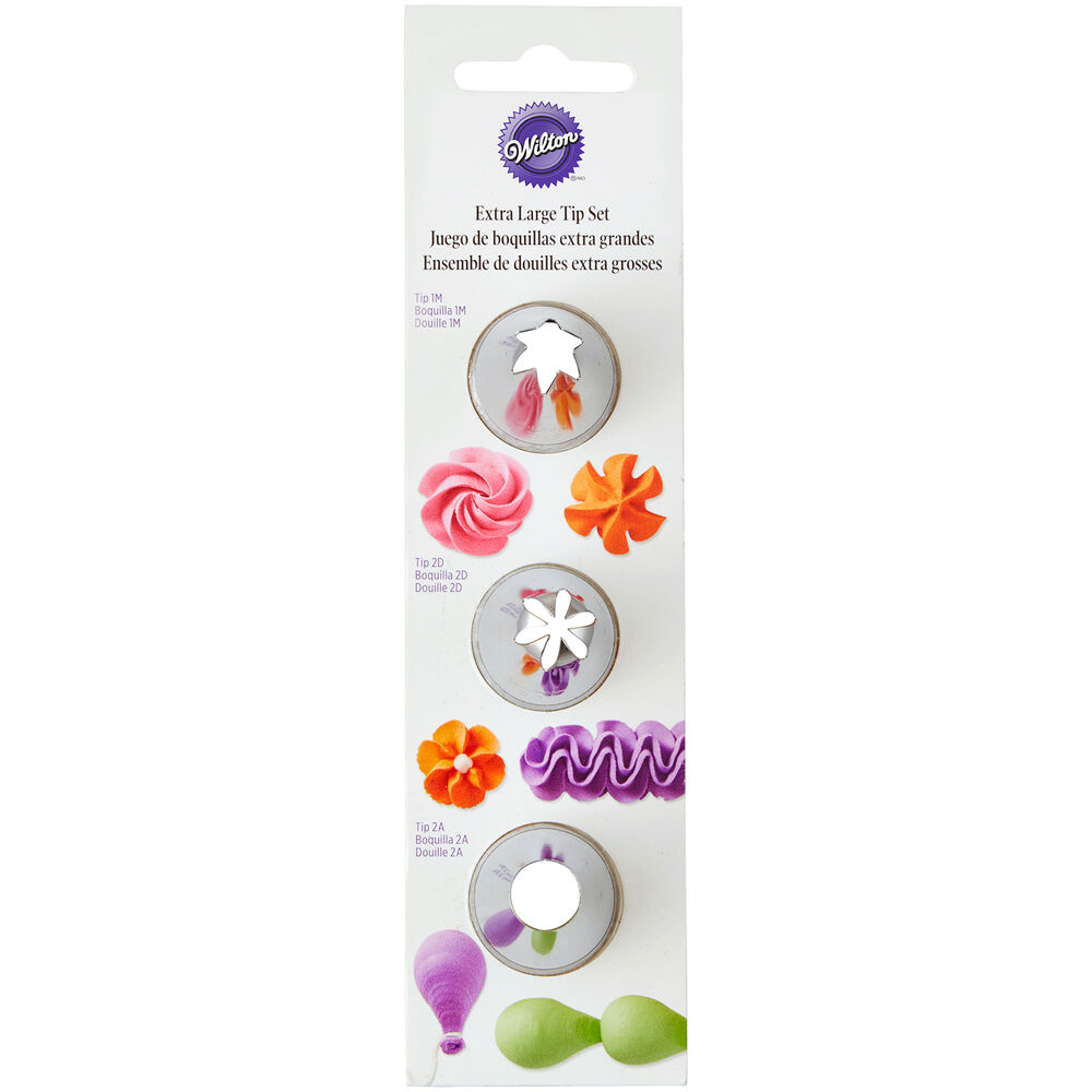 Wilton Extra-Large Tips, Set of 3