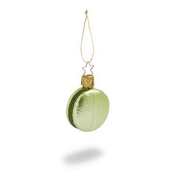 Pistachio Macaron Glass Ornament