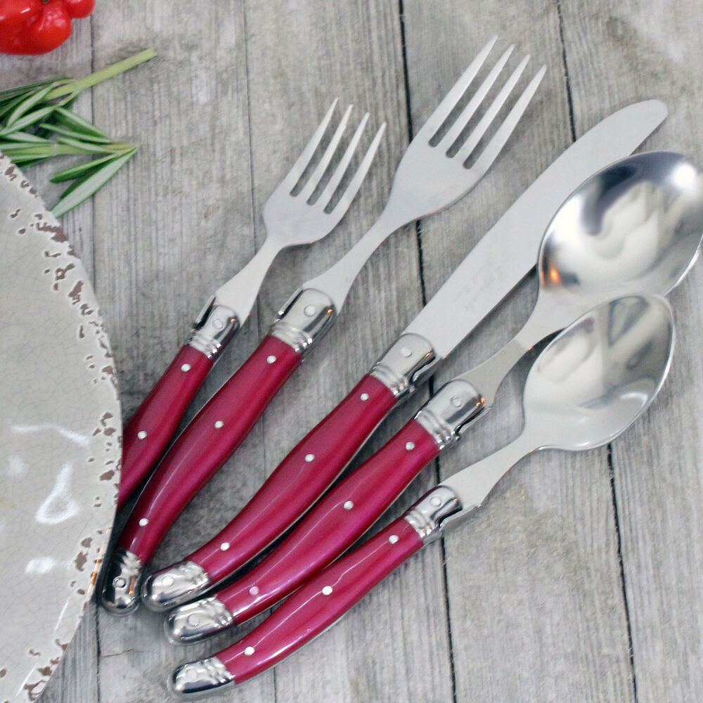 French Home Laguiole Stainless Steel Flatware, 20-Piece Set