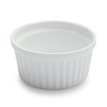 Sur La Table Porcelain Round Ramekin with Ribbed Sides