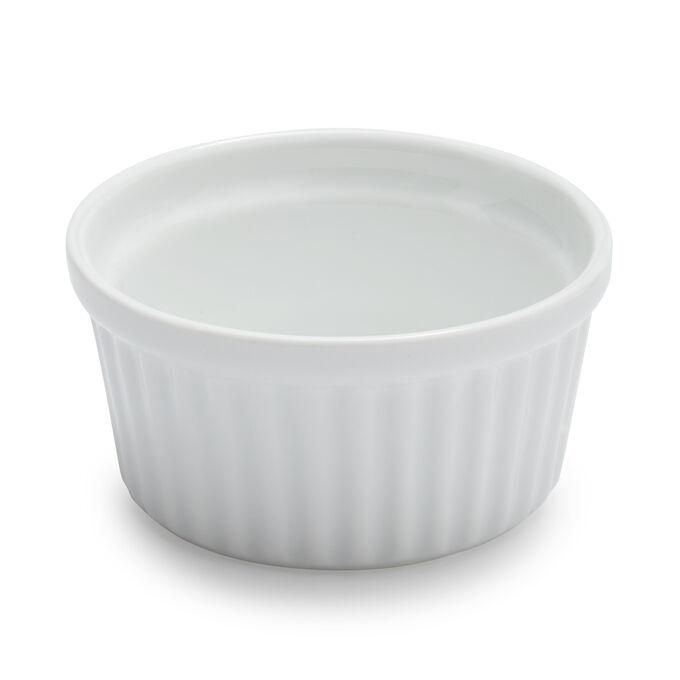 Sur La Table Porcelain Round Ramekin with Ribbed Side