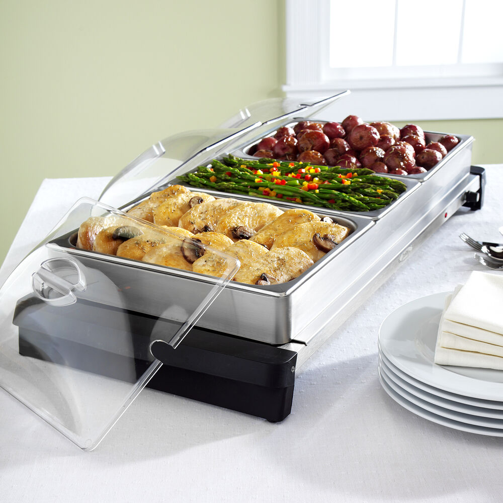 Stainless Steel Electric Buffet Servers