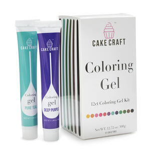 Cake Craft 12-Pack Coloring Gel Kit