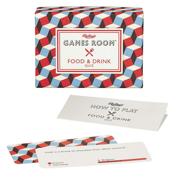 Ridley's Food & Drink Quiz Card Game for Kids and Adults