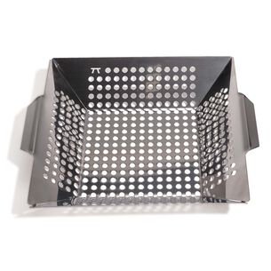 """Stainless Steel Grill Wok, 12"""" x 12"""""""
