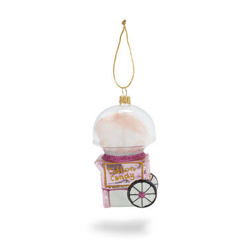 Vintage Cotton Candy Machine Glass Ornament