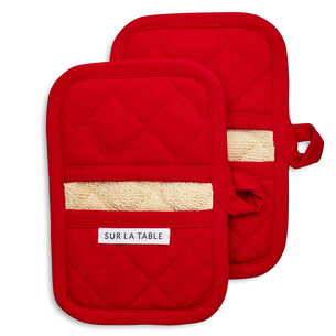 Red Classic Oven Mitts, Set of 2