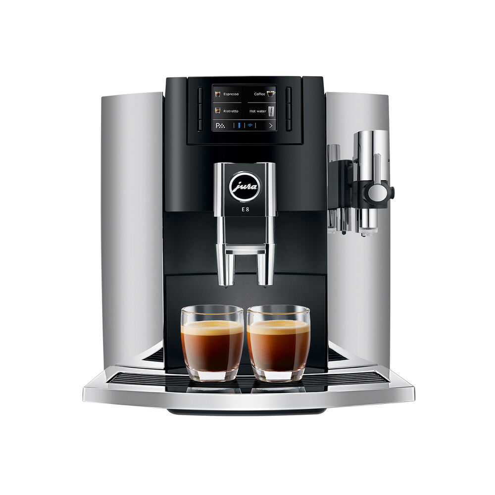 JURA E8 Chrome Automatic Coffee Machine