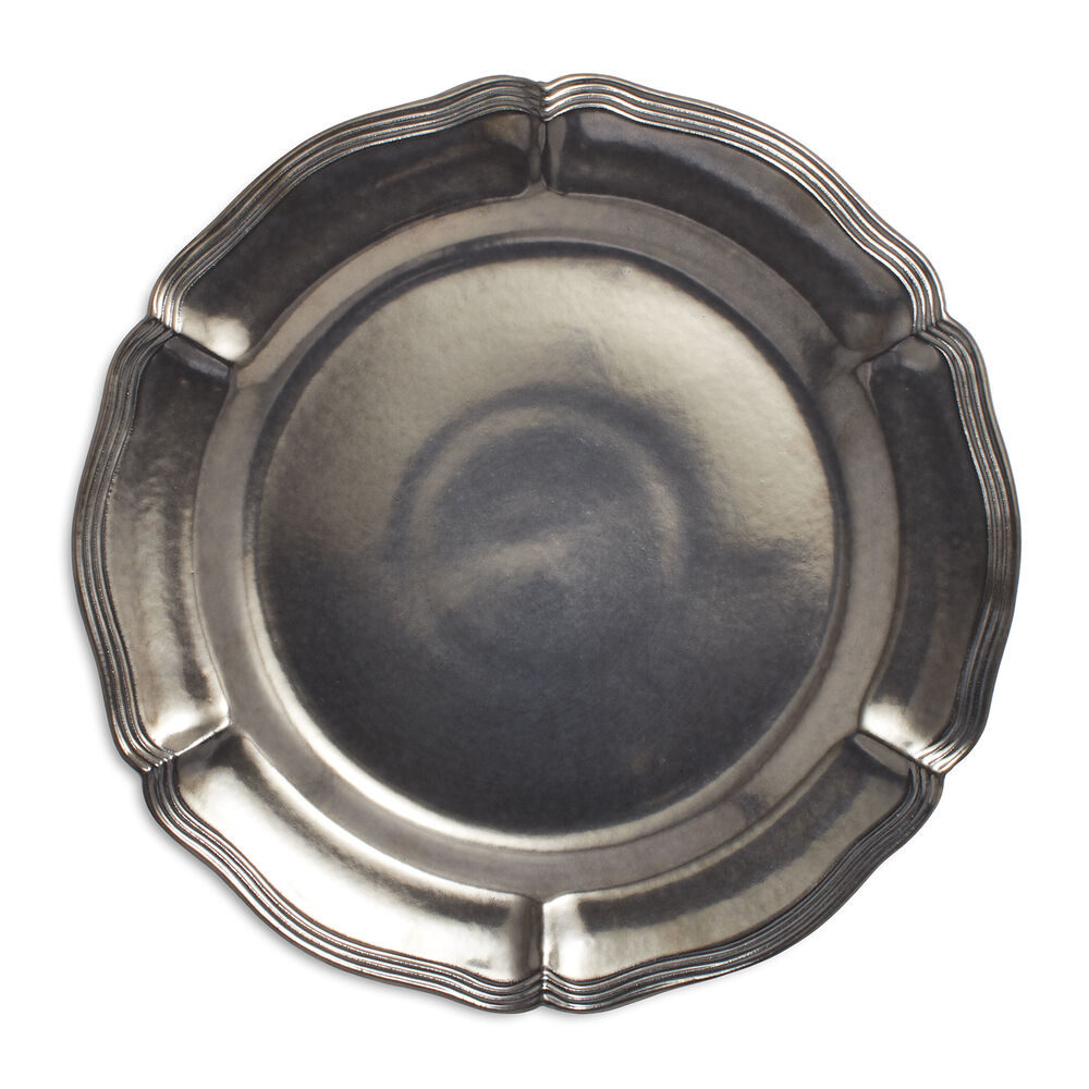 Pewter Charger, 14""