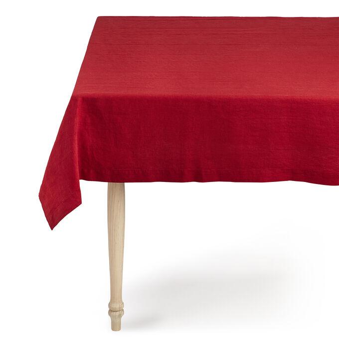 Cranberry Linen Tablecloth