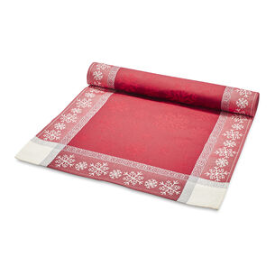 "Jacquard Snowflake Christmas Table Runner, 108"" x 18.5"""