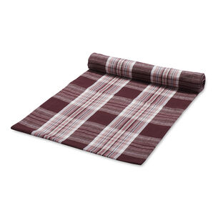 "Fall Harvest Plaid Table Runner, 108"" x 16"""