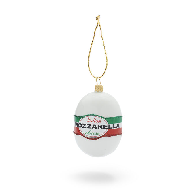 Mozzarella Glass Ornament