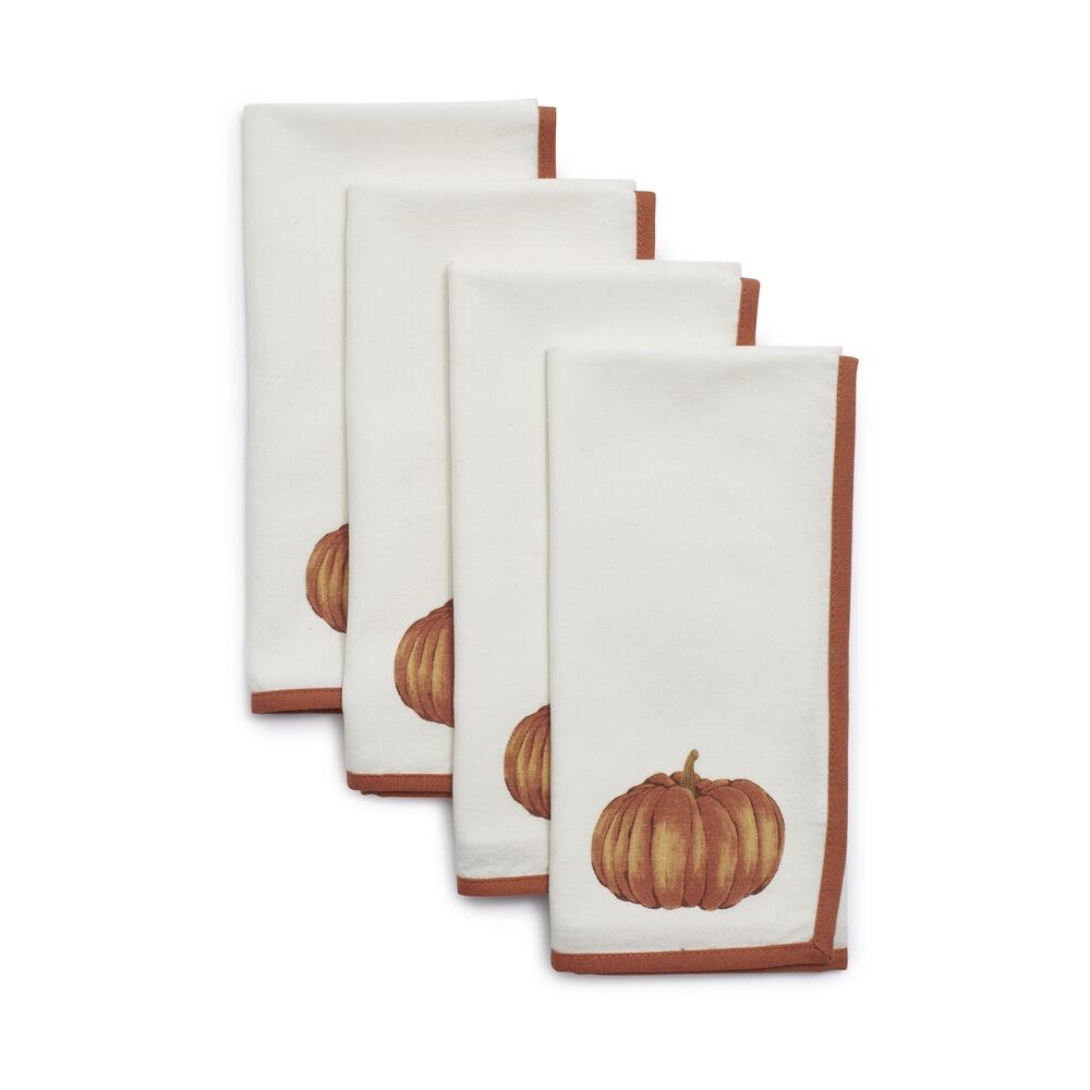 Pumpkin Napkins, Set of 4