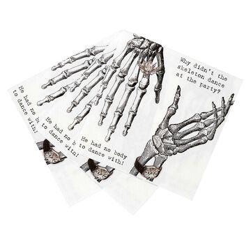 Skeleton Hand Cocktail Napkins, Set of 20