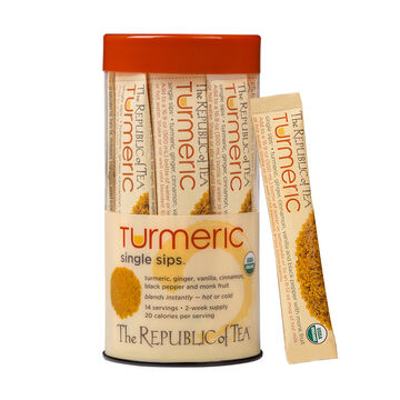 The Republic of Tea Organic Turmeric Single Sip, 14 packets