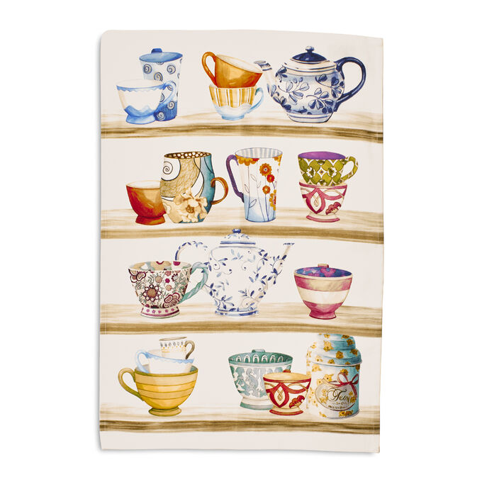 "Tea Time Kitchen Towel, 28"" x 20"""
