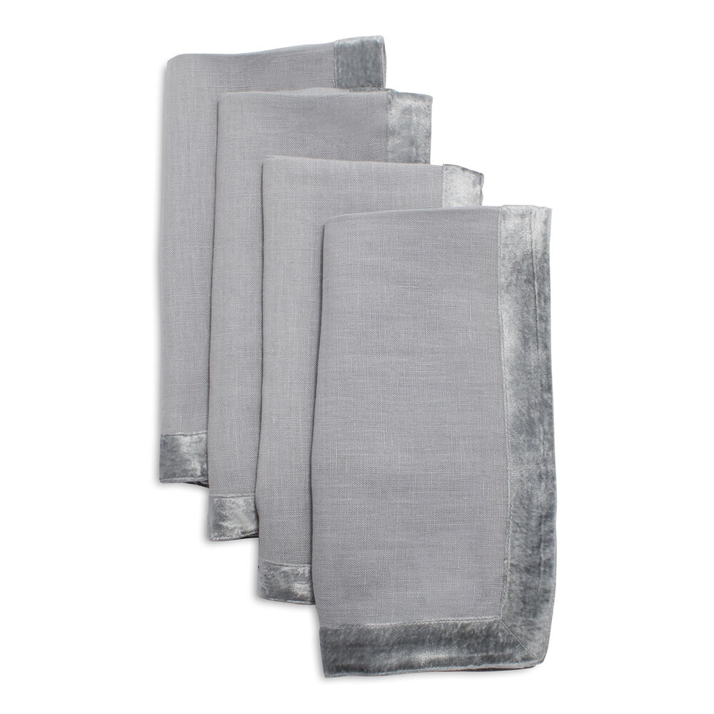 Velvet Linen Napkins, Set of 4