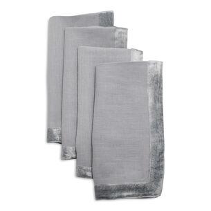 Velvet Linen Napkins, Set of 4