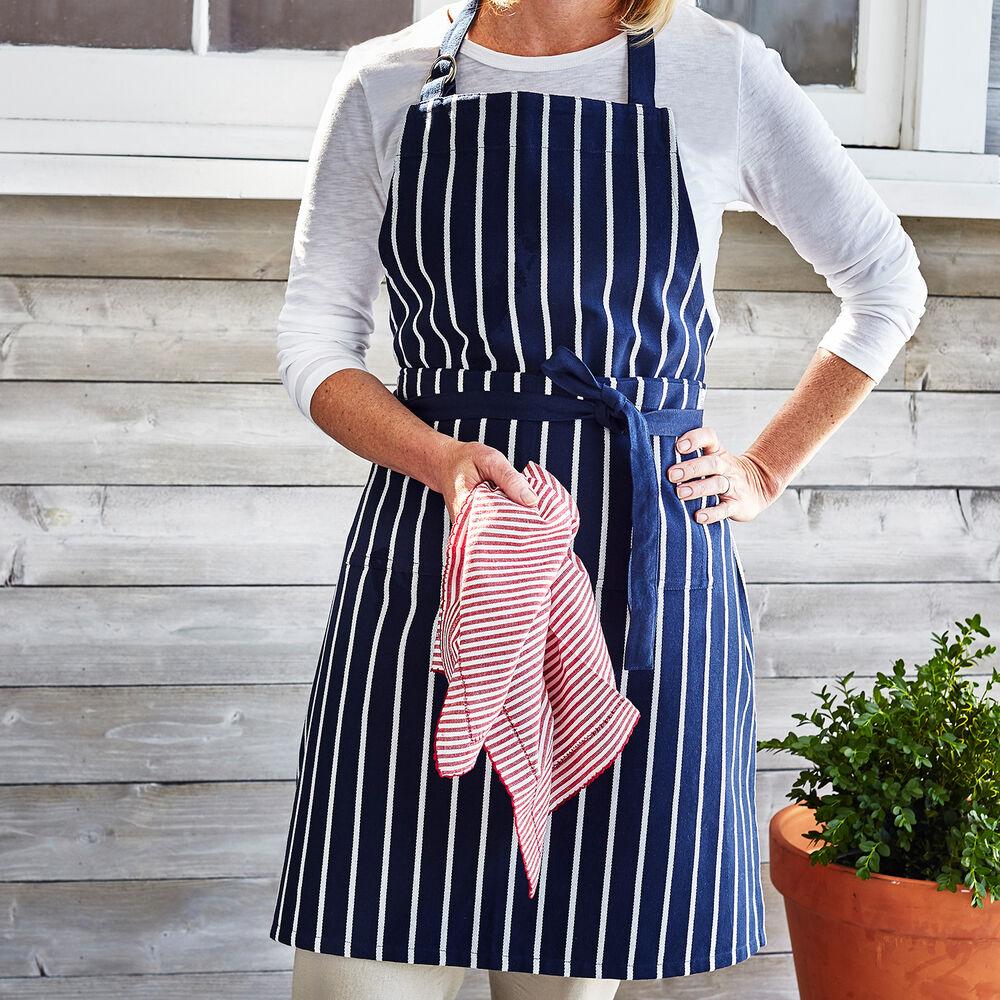 Blue Butcher Stripe Kitchen Apron