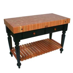 John Boos & Co. Le Rustica Cherry Block Table With Shelf