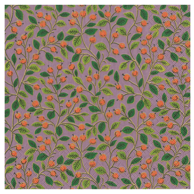 Berry Leaves Cocktail Napkins, Set of 20