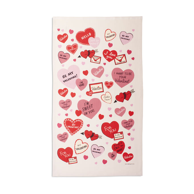 "Sur La Table Valentine's Day Hearts Towel, 32"" x 19"""