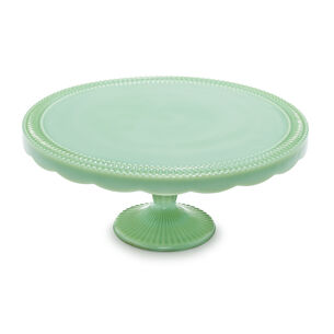 Jadeite Scalloped Cake Stand