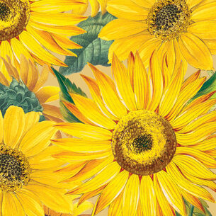 Caspari Sunflowers Cocktail Napkins, Set of 20