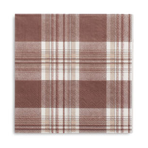 Plaid Paper Cocktail Napkins, Set of 20