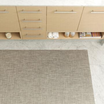 Chilewich Basketweave Floor Mat, Oyster