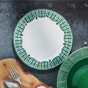 Gingham Salad Plate