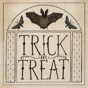 """Trick or Treat"" Cocktail Napkins, Set of 20"