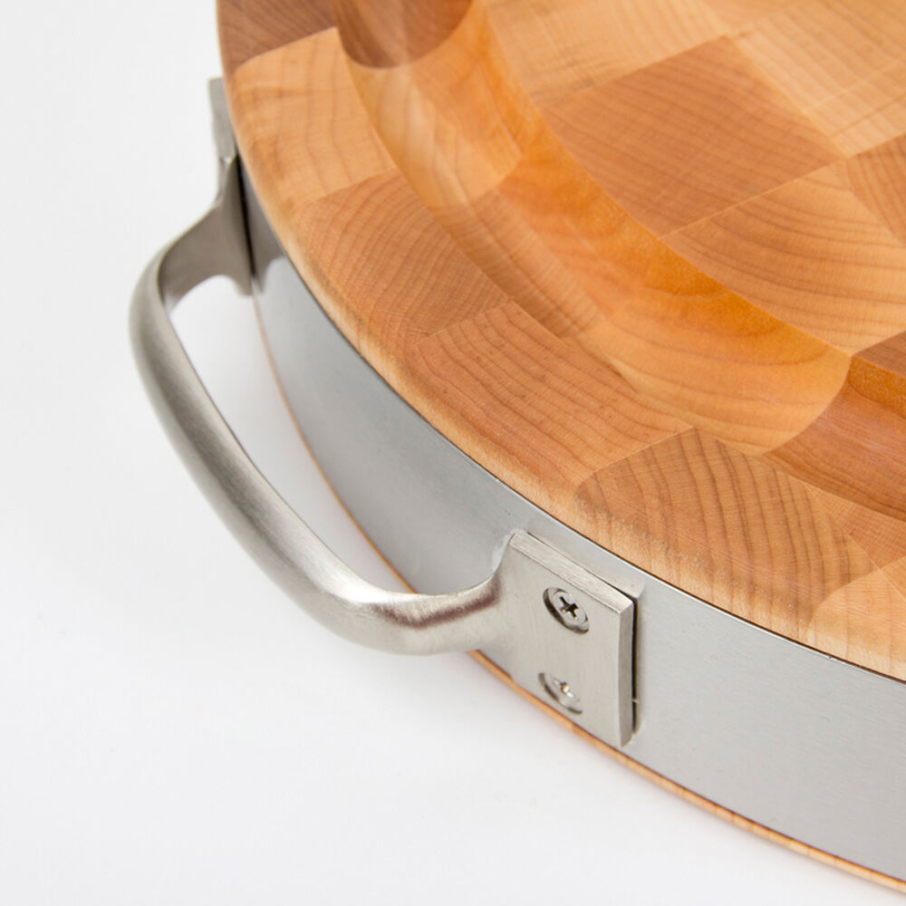 John Boos & Co. Oval End-Grain Maple Cutting Board