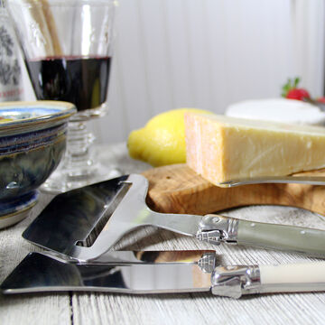 French Home 5-Piece Laguiole Cheese Knife, Fork and Slicer Set