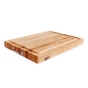 "John Boos Edge-Grain Maple Reversible Cutting Board with Handles, 24"" x 18"""