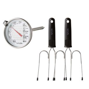 Turkey Lifters & Leave-in Meat Thermometer