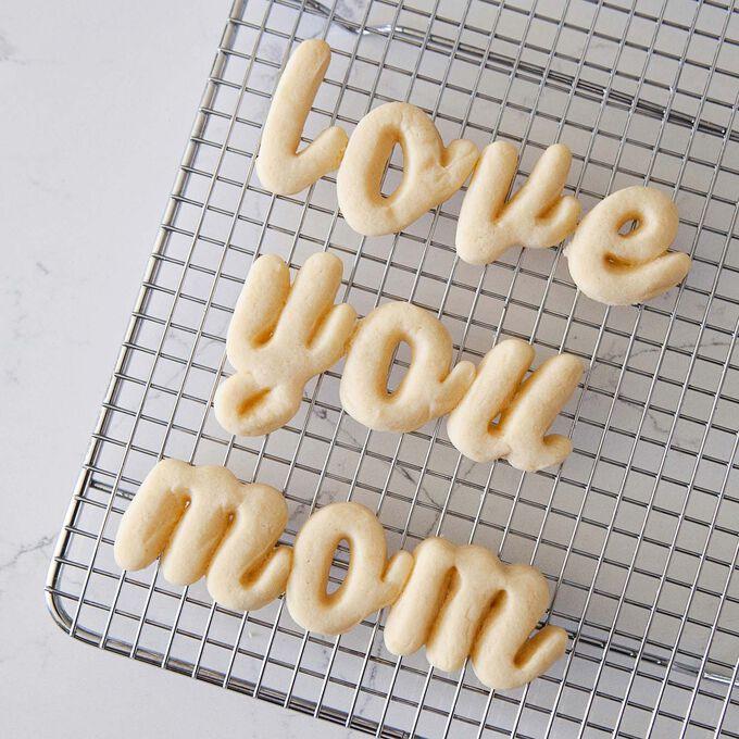 Script Alphabet Cookie Cutters, Set of 26
