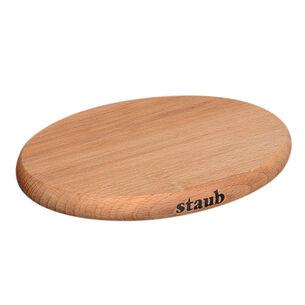 Staub Magnetic Oval Wood Trivet