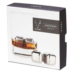 Stainless Steel Whisky Cubes, Set of 4