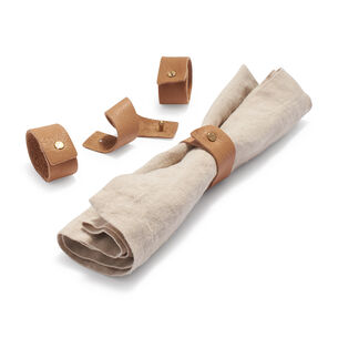 Leather Napkin Rings, Set of 4
