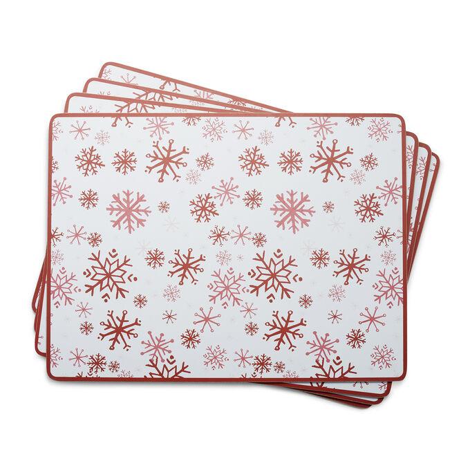Sur La Table Snowflake Cork-Backed Placemats, Set of 4